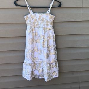 NWT Justice girls dress with gold& silver flowers